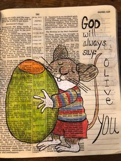 #biblejournaling God will always say I love you.