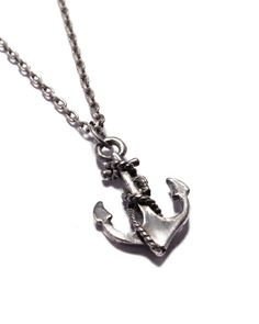 Distressed Anchor Necklace