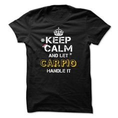 Keep calm and Let CARPIO Handle it TeeMaz - #tee verpackung #boyfriend sweatshirt. LIMITED AVAILABILITY => https://www.sunfrog.com/Names/Keep-calm-and-Let-CARPIO-Handle-it-TeeMaz.html?68278