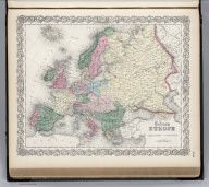 Colton, G.W. Europe. 1865. World Atlas from the David Rusmey Map Collection. This collection contains more than 100,000 historical maps documenting places throughout the world. The maps can be searched by area, by time period, or by cartographer.