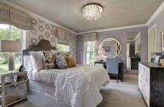 Purple white chandelier