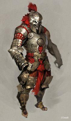 战士,华丽盔甲,表现的高贵,角色还是有一...@鬆鬆の屋屋采集到杂乱待整理(1571图)_花瓣游戏