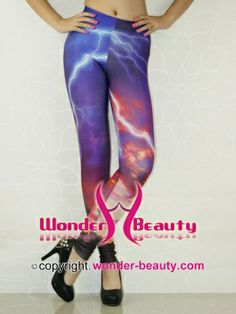 Blue Lightning Leggings From Wonder-beauty With Cheap Price Space Clothing, Space Outfit, Galaxy Fashion, Galaxy Leggings, Market Price, Galaxy Space, Lightning, Count, Legs