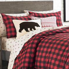 Eddie Bauer, Plaid Comforter, Pink Comforter, King Size Comforter Sets, King Duvet Cover Sets, Scarlet, Rustic Bedding Sets, Boy Toddler Bedroom, Black Duvet Cover