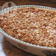 Suikerarme aardbeien-rabarbercrumble @ allrecipes.nl