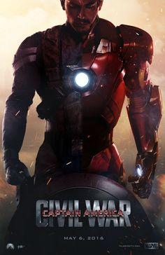 Steve Rogers, Tony Stark    Captain America: Civil War    by AncoraDesign    736px × 1,137px    #fanart #poster