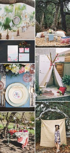 boho bridal shower inspiration
