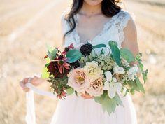 Mila Adams - Kentucky Florist Utah Destination Florist - Burgundy Blush White Bridal Bouquet