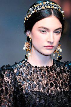 Fashion Trends 2013© Dolce & Gabbana. Renacer Barroco. Vía: anormalmag.com