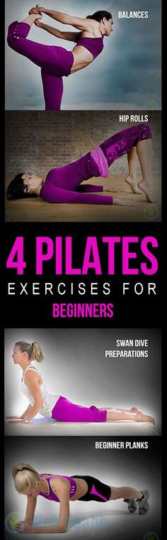 four #Pilates workouts for novices.....  Have a look at even more at the image