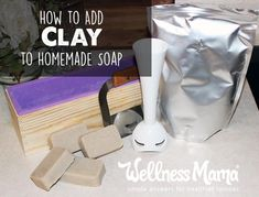 Make homemade clay soap for a smoother and silkier soap that washes gently and maintains some of the benefits of the clay.