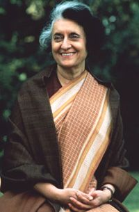 """Indira Gandhi:  """"Have a bias toward action - let's see something happen now. You can break that big plan into small steps and take the first step right away."""""""