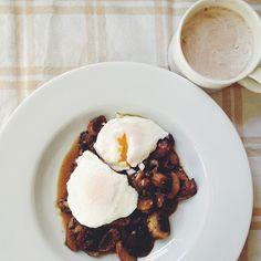 Mushrooms and poached eggs from @AlixLogan: http://instagram.com/p/lTd_HVDgcw/ #Food52 #f52grams