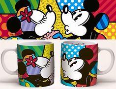 Mickey Mouse - The Love Mug - Romero Britto Disney Pop Art, Disney Cups, Cartoon Wallpaper, Iphone Wallpaper, Britto Disney, Graffiti Painting, Mickey Minnie Mouse, Disney Mickey, Cup Design