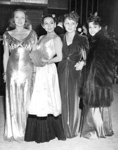 Marlene Dietrich, Dolores Del Rio, Sally Eilers and Lily Damita