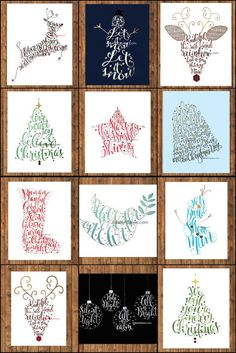 Christmas Calligraphy Decoration Typography Illustration Calligraphy by BellePapiers Noel Christmas, Christmas Signs, Christmas Decorations, Calligraphy Cards, Calligraphy Print, Caligraphy, Karten Diy, Art Graphique, Christmas Printables