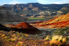 The Painted Hills in Eastern Oregon.