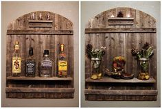 Made a rustic wall mount. Can be used as a mini liquor rack or just an entry way piece. The wall mount is 32 inches tall by 24 inches wide. Priced at $45. — with Jared Crocker and Jason Crocker. www.facebook.com/crockertwincreations Rustic Wine Racks, Outdoor Kitchen Bars, Rustic Walls, Wall Mount, Liquor, Entryway, Facebook, Living Room, Mini