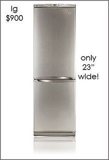:: Havens South Designs :: likes this 23 in wide LG refrigerator for 900.00