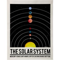 Kyle & Courtney Harmon Hand Painted Solar System Poster (45.465 CLP) ❤ liked on Polyvore featuring home, home decor, wall art, colorful home decor, solar system poster, galaxy poster, outer space wall art and colorful wall art