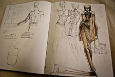 Fashion Sketchbook - fashion design drawings; fashion designer's sketch book