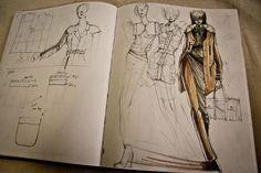 Fashion Sketchbook - fashion design drawings; fashion designer's sketch book // Peter Do