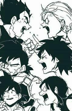 Dragonball Z couples : vegeta & bulma, bardock & gine, goku & chichi Dragon Ball Z, Anime Naruto, Goku And Chichi, Funny Dragon, Dragon Images, Z Arts, Anime Kawaii, Fan Art, Sketches