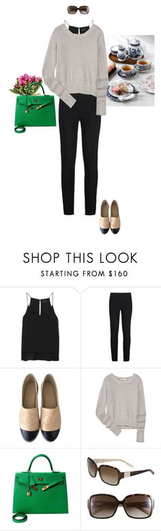 """Mother's Day Brunch With Babies"" by mrs-snow ❤ liked on Polyvore featuring rag & bone, STELLA McCARTNEY, Chanel, T By Alexander Wang, Hermès and Kate Spade"