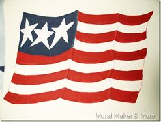 How To Paint Waving Flag – simple way to paint a flag with only 3 colors of paint!