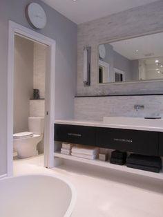 The Perfect Pearl - modern - bathroom - toronto - by NathalieTremblay - Atelier Cachet Modern Bathroom, Small Bathroom, Master Bathroom, Bathroom Gray, Shared Bathroom, Basement Bathroom, Bathroom Renos, Bathroom Ideas, Bathrooms