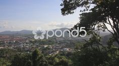 Landscape Phuket Town City Tree Buildings Mountain Sky Thailand Tropical Island - Stock Footage | by RyanJonesFilms