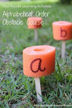 Pool Noodle Learning Activity: Race through this Alphabetical Order Obstacle Course to practice ABC's