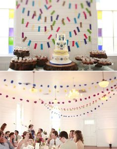This Beer Garden wedding is most awesome. Including the cake display. Drool.