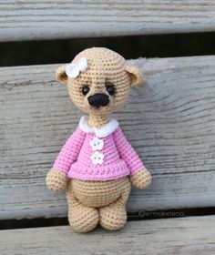 """319 Beğenme, 3 Yorum - Instagram'da Ермак Елена ⭐️ игрушки ⭐️ МК (@ermakelena): """"Bears in new design ❤️❤️❤️ These bears are crocheted as a whole (in one piece). Only the front…"""""""