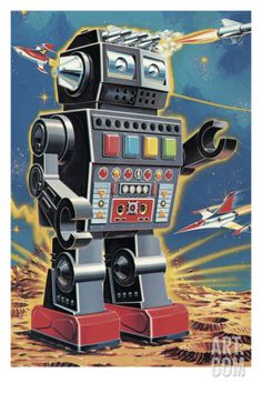 Robot Art Print by Pop Ink - CSA Images at Art.com
