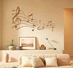 20coole ideen wandtattoo design schlafzimmer musik