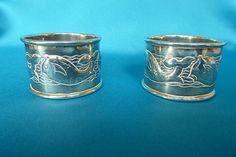 Keswick school silver 'fish' napkin rings