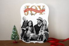 Rustic Joy Holiday Photo Cards by Hooray Creative at minted.com