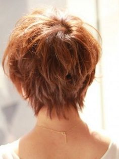 the back of asymmetrical pixie | Back View Of Pixie Haircut | Japanese Hairstyle for summer back view ...