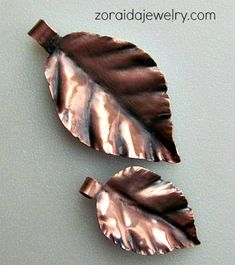 Copper Leaf Pendants