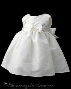 Toddler+Christening+Dresses+for+Girls   Baby girls ivory taffeta christening baptism dress
