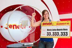 Un número le cambió todo a María Luisa que se ganó Gs. 33.333.333 con el #Progresivo en el sorteo del 24/01/16