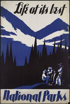 vintage hiking poster - Google-Suche