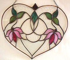 Stained Glass  Heart  Art Nouveau Design by RicochetStainedGlass, $98.00