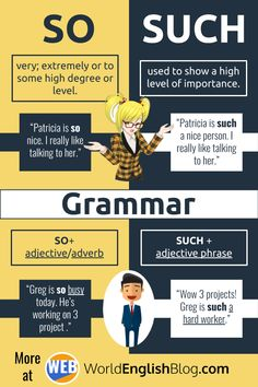 💬English Grammar - So and Such - Learn to use the confusing English words SO and SUCH just like a native speaker! English Grammar Rules, Teaching English Grammar, English Writing Skills, English Vocabulary Words, English Language Learning, Learn English Words, Learning English For Kids, French Language, Learning Spanish