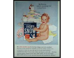 Ivory Snow Baby Snowman Laundry Room Decor Wall by thevintageshop