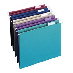 Amazon.com : Smead Hanging File Folder with Tab, 1/5-Cut Adjustable Tab, Letter Size, Assorted Jewel Tone Colors, 25 per Box (64056) : Hanging File Folders : Office Products