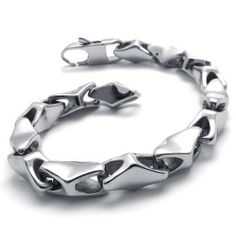 """KONOV Stainless Steel Bracelet for Men, Silver, 8.8 Inch KONOV Jewelry. $17.99. Material: Stainless Steel. Color: Silver. Width: 8mm(0.31"""") Length: 8.86""""(22.5cm). stainless steel is durable and scratch resistant"""