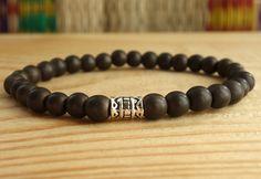 Hematite bracelet meditation bracelet Mens Yoga bracelet Brown man Bracelet wrist mala bracelet power bracelet Reiki jewelry bead bracelets di SoulJewelryOliH su Etsy