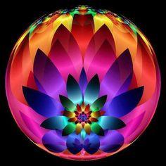 Rainbow lotus lamp